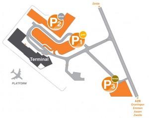 parkeren vliegveld Eelde
