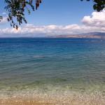 de zee bij Corfu