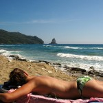 zonnen op Corfu
